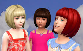 child bob haircut sims 4 the sims 4 my stuff short bob hairstyle base game converted for