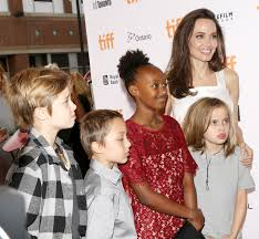 angelina jolie brought her kids to a premiere and omg zahara and