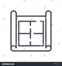 house plan wire frame icon suitable stock vector 361682099