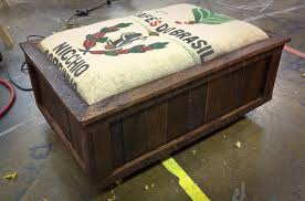 Ottoman Translation by Heytherejohnryan Coffee Sack And Pallet Wood Ottoman