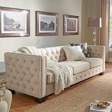 homesullivan lincoln park 1 piece beige linen sofa 40e318bl 3bsofa