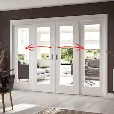 Exterior Pocket Door Easi Slide Op1 White Shaker 1 Pane Sliding Door System In Four