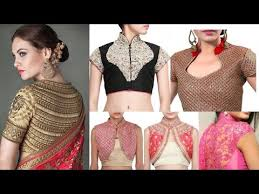 latest trend high collar neck blouse designes 2017 youtube
