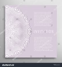Borders For Wedding Invitation Cards Invitation Card Template Lace Border Pattern Stock Vector