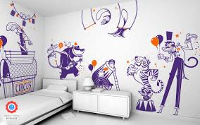 beautiful wall stickers for children s bedrooms by e glue circus animals theme kids wall decals pack