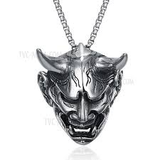 man necklace steel images Gmyn121 ghost design trendy stainless steel antique silver plated jpg