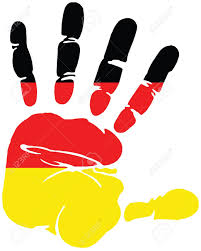 Germany Flag Colors Handprint For Germany With Colors Of German Flag Royalty Free