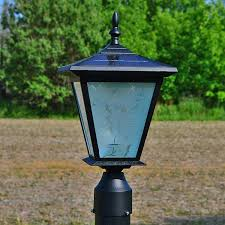 solar lights pillar column mount solar lights by free light galaxy solar