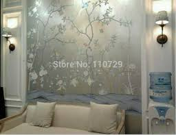 Wallpaper With Birds Aliexpress Com Buy Hand Painted Silver Foil Wall Paper Painting