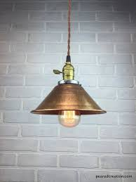 Industrial Pendant Light Shade by Copper Shade Lamp Industrial Pendant Light Metal Shade