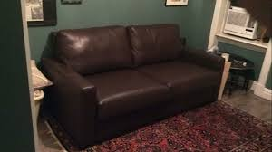 Queen Leather Sleeper Sofa Room U0026 Board Berin 75