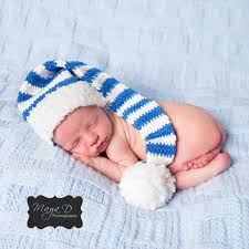chanukah hat blue and white striped baby hat gender neutral newborn