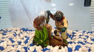 diver and treasure