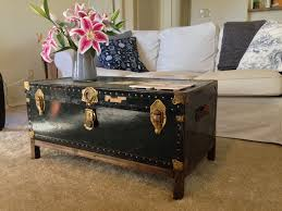 Vintage Coffee Tables by Amusing Vintage Steamer Trunk Coffee Table In Diy Home Interior