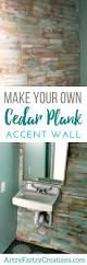 Bathroom Accent Wall Ideas Diy Cedar Wall Wood Plank Accent Wall Cheryl Phan
