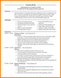 server resume exle 7 server resumes exle contract