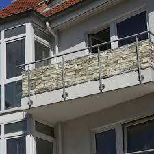 seitenschutz balkon balkonbespannung sichtschutz 300 x 90 cm steine motiv