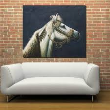 Living Room Paintings Online Get Cheap Framed Horse White Aliexpress Com Alibaba Group