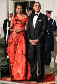 obama dresses see obama s showstopper of a state dinner gown vanity fair