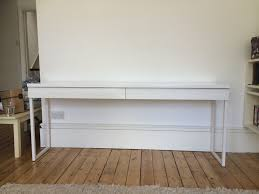 Ikea White Desk by Assembly And Review Of The Ikea Besta Burs High Gloss Desk Flat