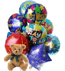 balloons and teddy delivery congratulations balloons 12 mylar balloons