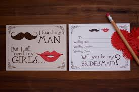 asking bridesmaids ideas will you be my bridesmaid cards mustache and