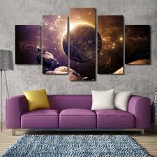 Wall Art Ideas For Living Room Planet Of The Universe Painting 5 Piece Canvas Planets