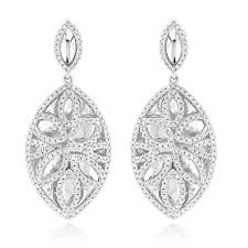 diamond drop earrings designer diamond drop earrings 1 36ct 14k gold