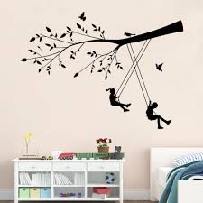 online buy wholesale swing decoration from china new style boys and girls the swings wall stickers decor kindergarten children
