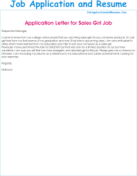 cover letters for a resume job application as a sales girl jaar head hunters application for the post of a sales girl