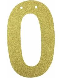 save your pennies deals on glitter number garland gold zero 0