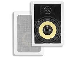 In Wall Speakers Vs Bookshelf Speakers Caliber In Wall Speakers 6 5in Fiber 2 Way Pair Monoprice Com