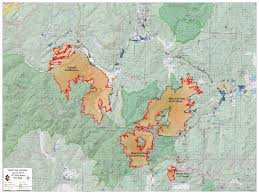 Wildfire Perimeter Map by West Fork Fire Complex Fire Maps