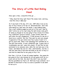 story red riding hood fractured fairytale