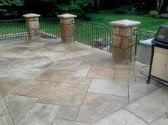 Backyard Cement Patio Ideas Great Looking Stamped Concrete Stamped Concrete Patio Patio Design