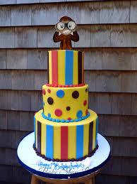 curious george birthday cake tiered buttercream cakes special occasion cakes specialty theme