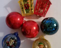 Molded Christmas Decorations by 60s Christmas Etsy