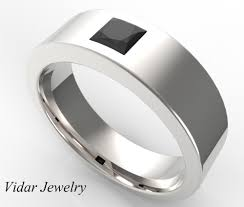 mens black diamond wedding band mens wedding band black diamond princess cut wedding band vidar