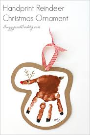 handprint reindeer ornament craft for buggy and buddy