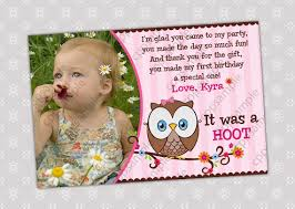 birthday thank you card 1st birthday thank you card wording thank you card top