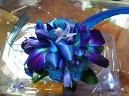 Teal Corsage Blue And Teal Mix Wrist Corsage In Ga Flower Jazz