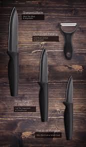 kcasa kc kf6 5 pieces black blade ceramic knife set with holder kcasa kc kf6 5 pieces black blade ceramic knife set with holder multi function