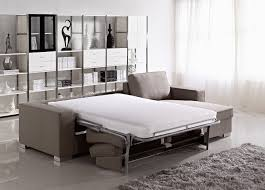 small living room design with gray velvet couch built in extra bed