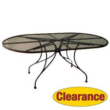 Mesh Patio Table Patio Furniture Wrought Iron 71 X 42 Oval Dining