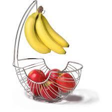 modern fruit holder spectrum pantry works ellipse fruit tree basket and banana holder