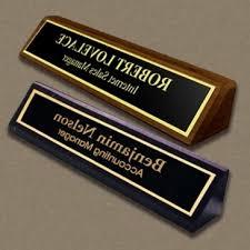 custom desk name plates personalized plate naag tag regarding