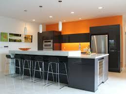 peinture orange cuisine cuisine orange la couleur tonifiante et vive