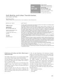 Irm Case Mobili by Soft Mobility And Urban Transformation Pdf Download Available