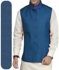 modi dress modi pattern jacket jute fabric by gwalior blue mk jh 101