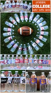 thanksgiving water bottle labels iron bowl party ideas i u0027d add some red sun chip bags to the mix